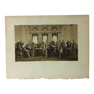 """Antique Photogravure on Paper, """"The Berlin Conference"""" by Anton Von Werner - Circa 1860 For Sale"""