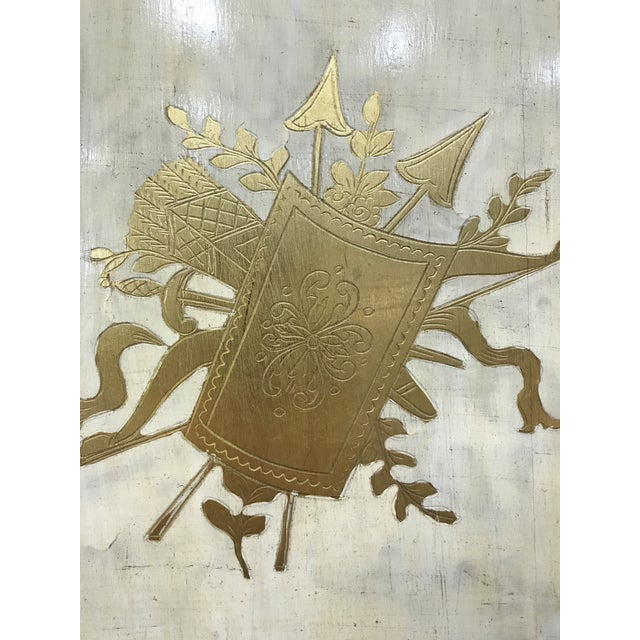 20th Century Italian Giltwood Florentine Room Divided Screen Hollywood Regency For Sale - Image 6 of 13