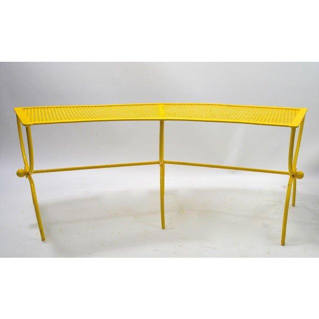 John Salterini Curved Garden Patio Benches by Salterini Pair Available For Sale - Image 4 of 12