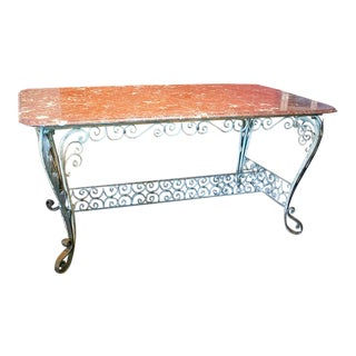 Italian Marble Top Dining Table For Sale