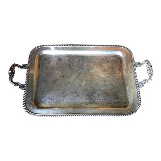 Antique Reticulated Serving Tray For Sale