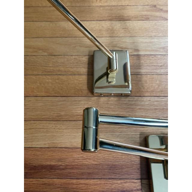 Mid-Century Modern Brass Hinson Swing Arm Lamps - a Pair For Sale In Boston - Image 6 of 11