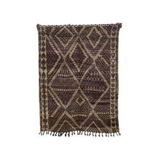 "Boujad Vintage Moroccan Wool Rug - 7'5"" X 9'7"" For Sale"