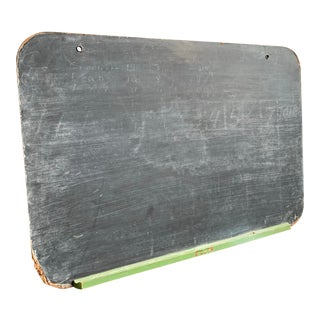 1940s Wall Hanging School House Chalk Board For Sale
