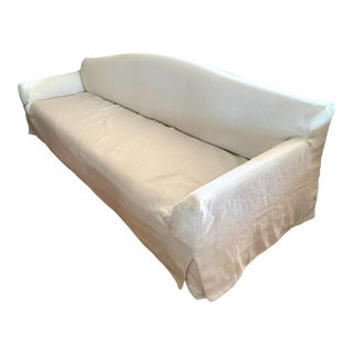 Basse Terra Sofa by Christian Liaigre for Holly Hunt With Linen Slipcover For Sale