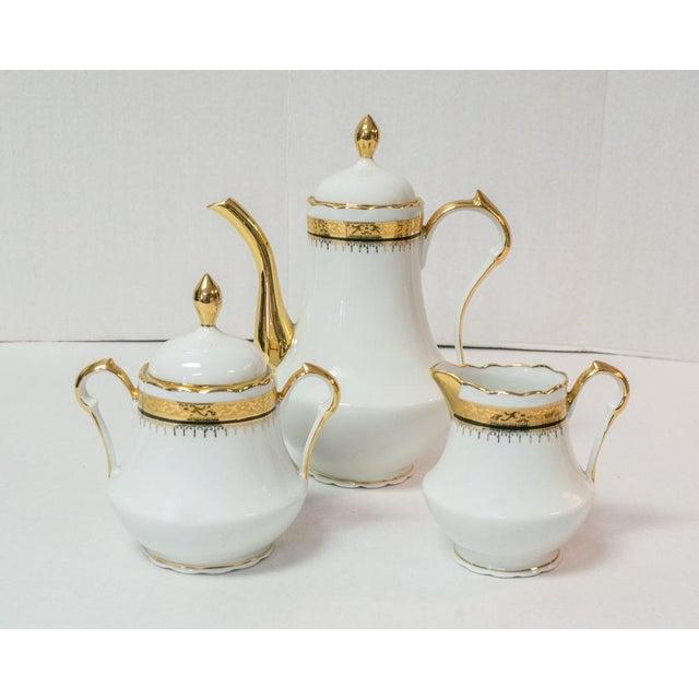 Vintage French Porcelain Dinner Set - Set of 42 For Sale - Image 9 of 10