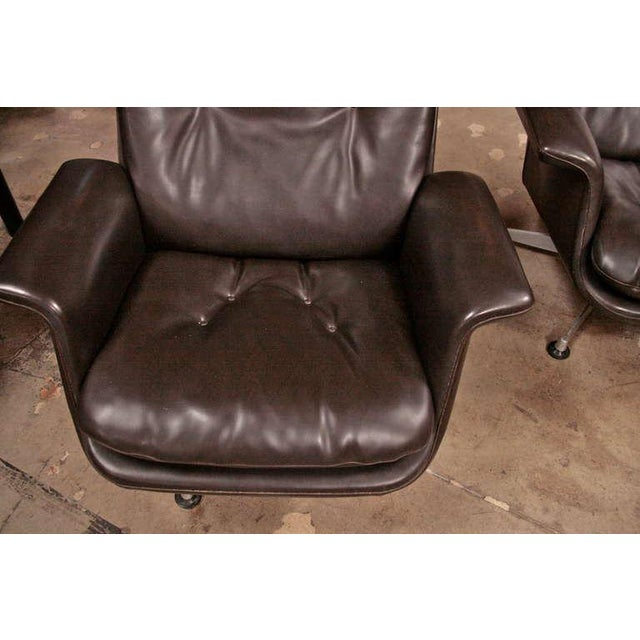 Textile Italian 1970 Swivel Armchairs by Anonima Castelli For Sale - Image 7 of 11