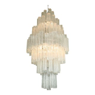 Monumental Venini Tronchi Chandelier For Sale