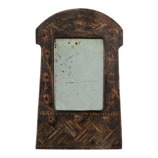 Antique Curious Primitive Mirror For Sale