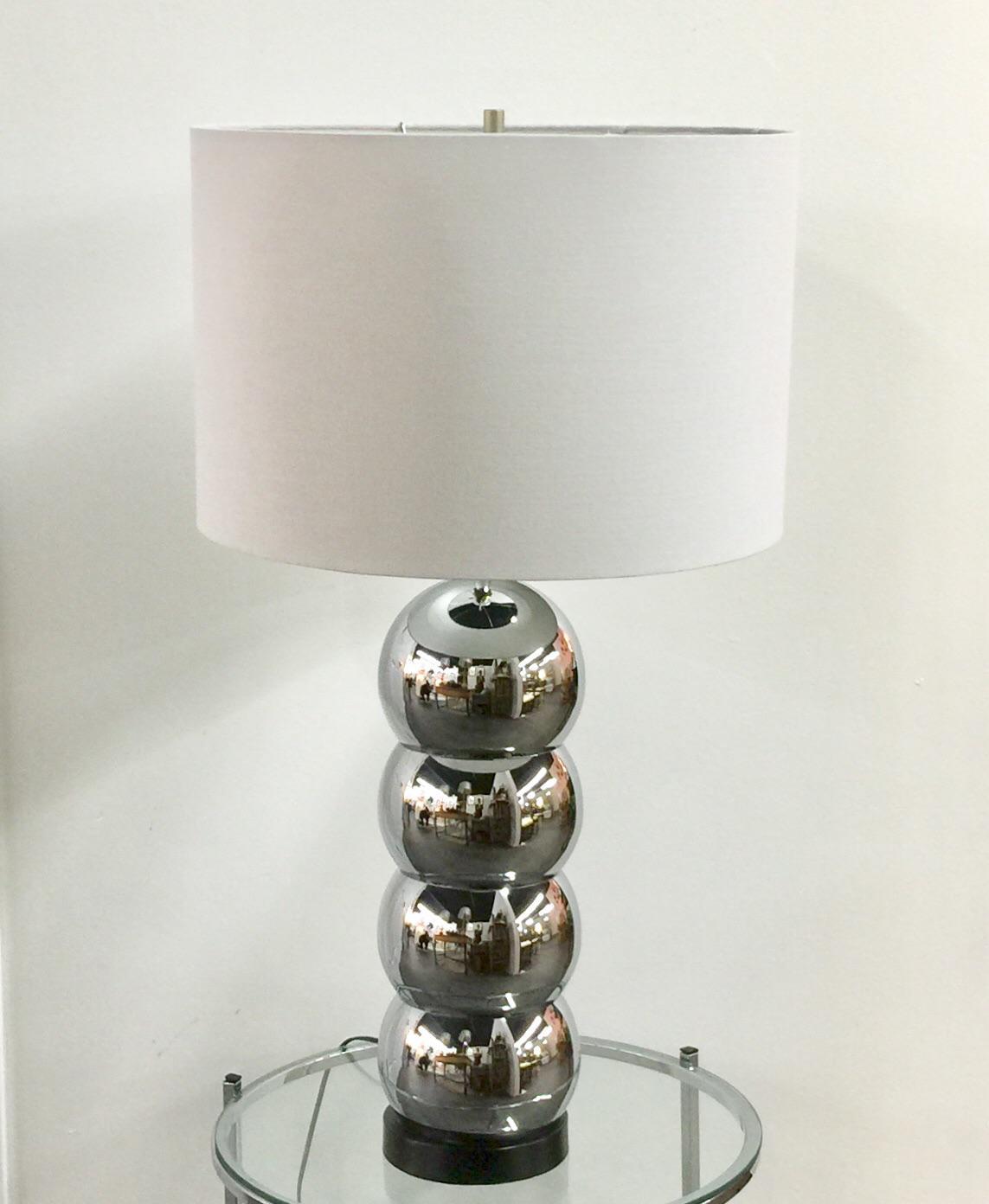 Mid Century Chrome Stacked Ball Table Lamp Chairish