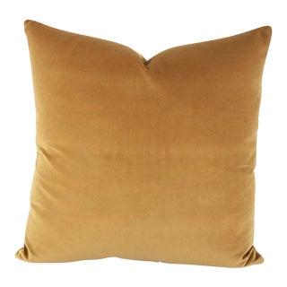 F. Schumacher Gainsborough Mocha Velvet Pillow Cover For Sale