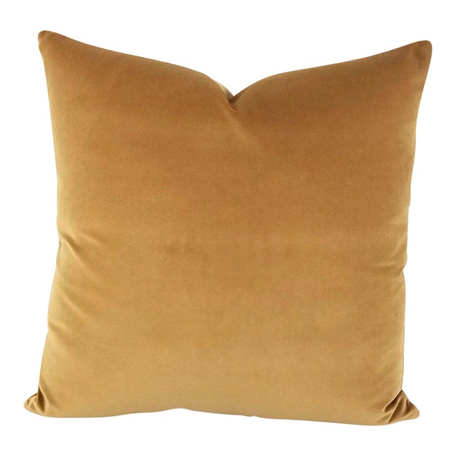 F. Schumacher Gainsborough Mocha Velvet Pillow Cover For Sale