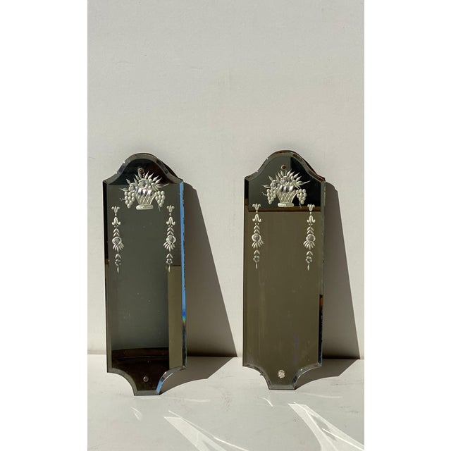 Venetian Mirrors - a Pair For Sale - Image 4 of 8
