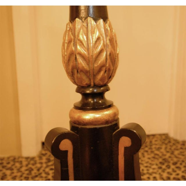 Hand-Painted Lacquer Floor Lamp - Image 4 of 6