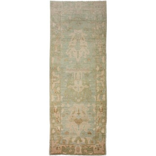 "Aara Rugs Inc. Hand Knotted Oushak Runner - 9'2"" X 3'3"" For Sale"