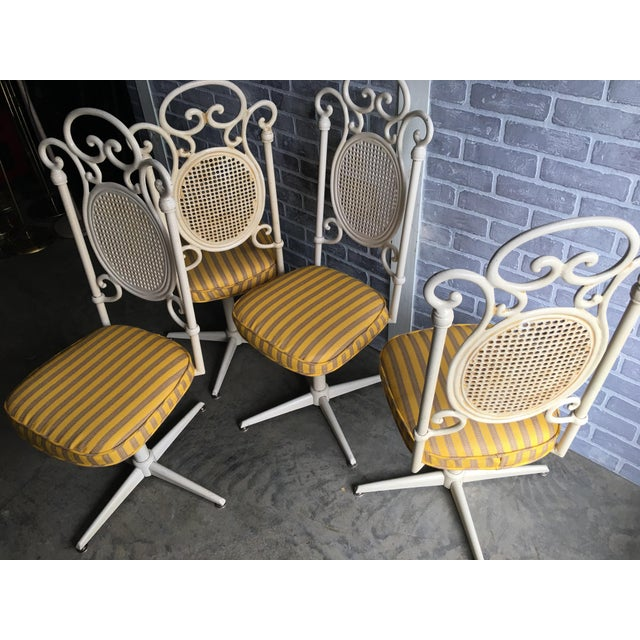 Vintage Victorian White Cast Iron Dining Set For Sale - Image 10 of 13