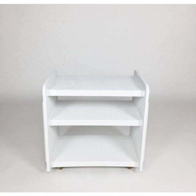 Minimalism White Post-Modern Bar Cart For Sale - Image 3 of 8
