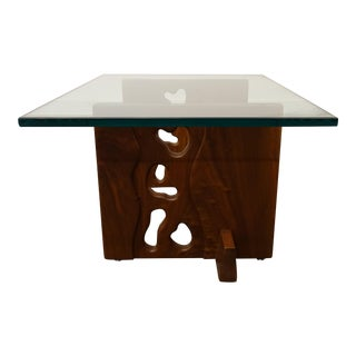 1960s Mid-Century Modern American Studio Glass Top Table For Sale