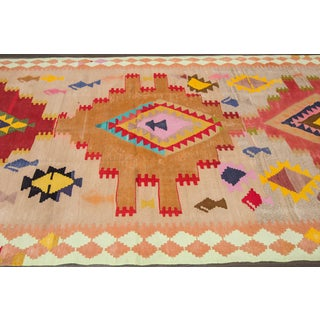 Mid 20th Century Vintage Kilim Wool Runner Rug Preview