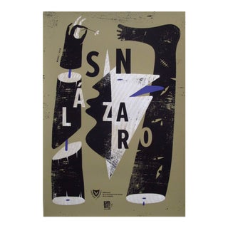 2018 Cuban Silkscreen Poster, Graphic Typography (Signed, Numbered)