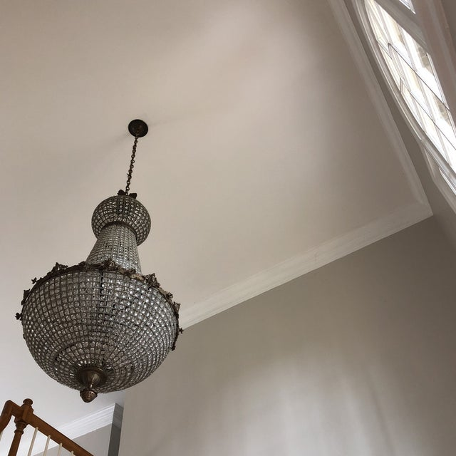 Silver Jumbo Size Cherub Acanthus Empire Chandelier For Sale - Image 8 of 11