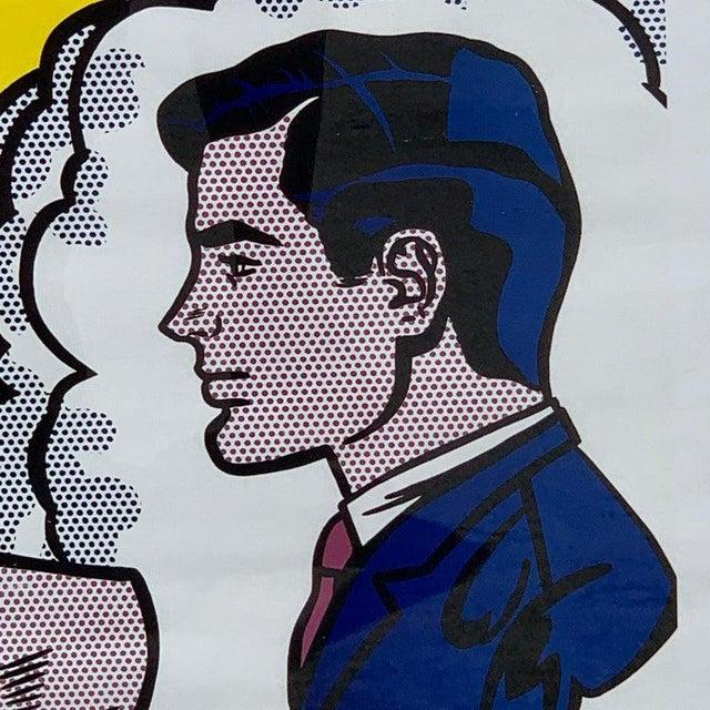 "Black After Roy Lichtenstein ""Thinking of Him"" For Sale - Image 8 of 9"