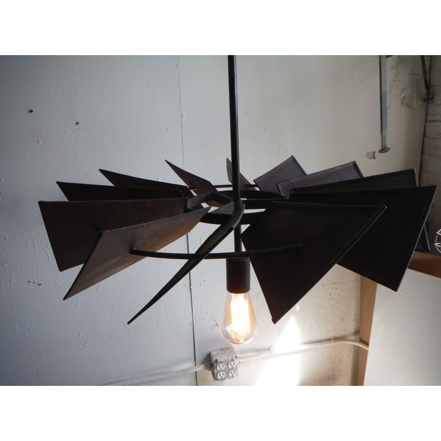 Vintage Rustic Windmill Pendant Light For Sale - Image 4 of 6