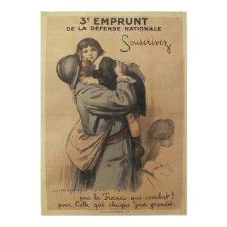 1917 French Vintage WW1 Propaganda Poster, 3e Emprunt