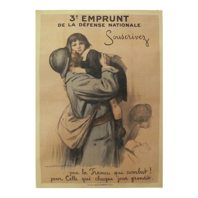 1917 French Vintage WW1 Propaganda Poster, 3e Emprunt - Image 1 of 5