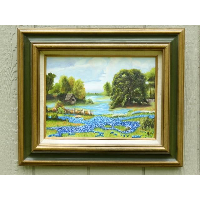 Countryside Bluebonnet Landscape Original Oil Painting For Sale - Image 12 of 13