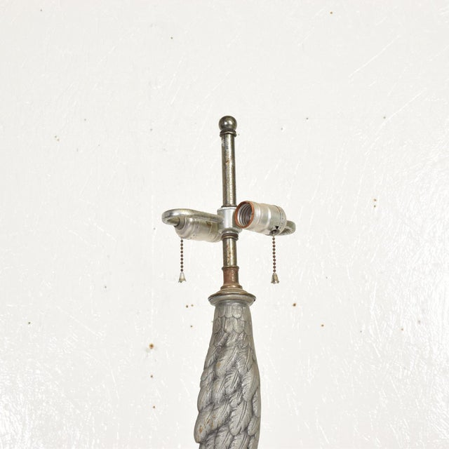 Boho Chic Hollywood Regency Ostrich Eagle Leg Table Lamp For Sale - Image 3 of 11