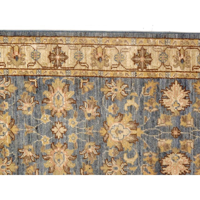 "Traditional Pasargad DC Pak Oushak Lambswool Rug - 2′6"" × 9′8″ For Sale - Image 3 of 5"