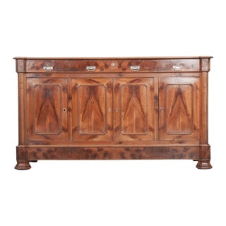 French 19th Century Louis Philippe Walnut Enfilade For Sale