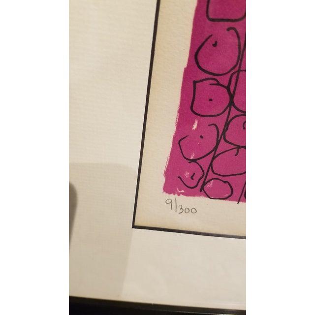 "Original Gloria Vanderbilt Signed Lithograph Titled "" Egyptian Head"" For Sale - Image 4 of 9"