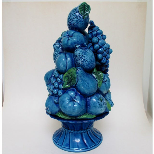 Ceramic Vintage Porcelain Fruit Topiary For Sale - Image 7 of 9