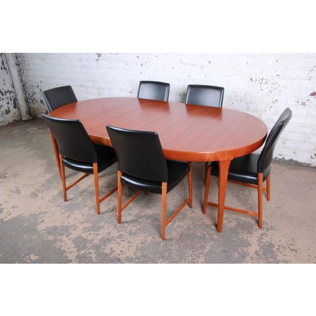 Danish Modern Ib Kofod-Larsen and Torbjorn Afdal Scandinavian Modern Teak Dining Set For Sale - Image 3 of 13