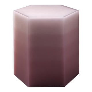 """Hex Stool, Gradient, Pink Resin"", Resin, Wood, 2018, Facture Studio"