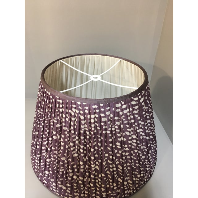 Mid-Century Modern Penny Morrison Amethyst Lamp Shade For Sale - Image 3 of 5