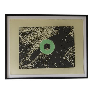 "Contemporary Original Linocut on Paper ""Go"" by Carol Bennett For Sale"