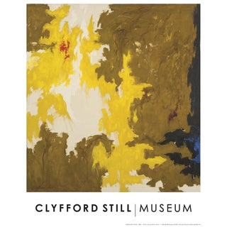 "Clyfford Still Abstract Expressionist ""Ph - 321"" Offset Lithograph Print Museum Poster, 1948 For Sale"