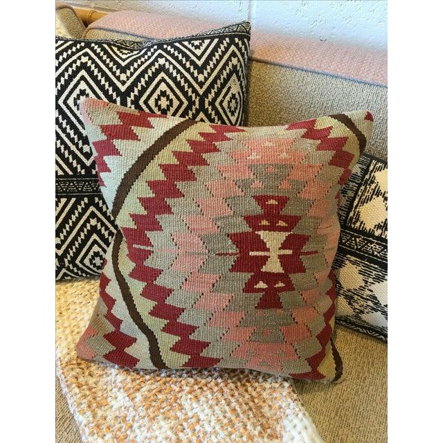 Vintage Kilim Rug Pillow - Image 2 of 6