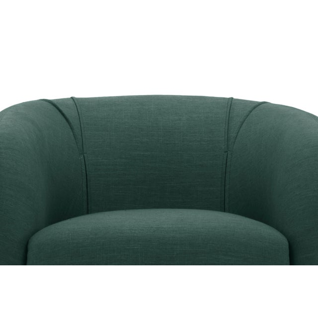 Contemporary Dark Green Sepli Accent Chair For Sale - Image 3 of 6