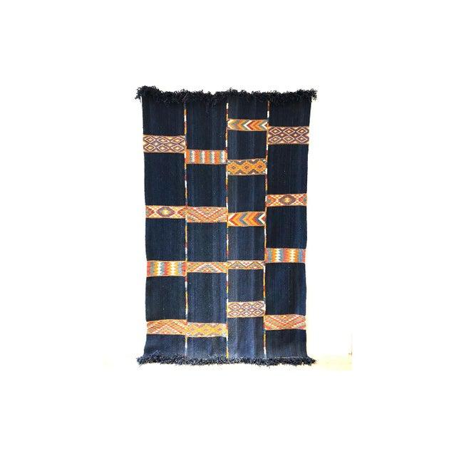 Textile Vintage Jordanian Flatweave Rug For Sale - Image 7 of 7