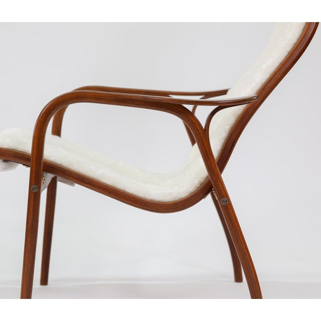 Canvas Vintage Yngve Ekstrom for Swedese Lamino Chair and Ottoman For Sale - Image 7 of 13