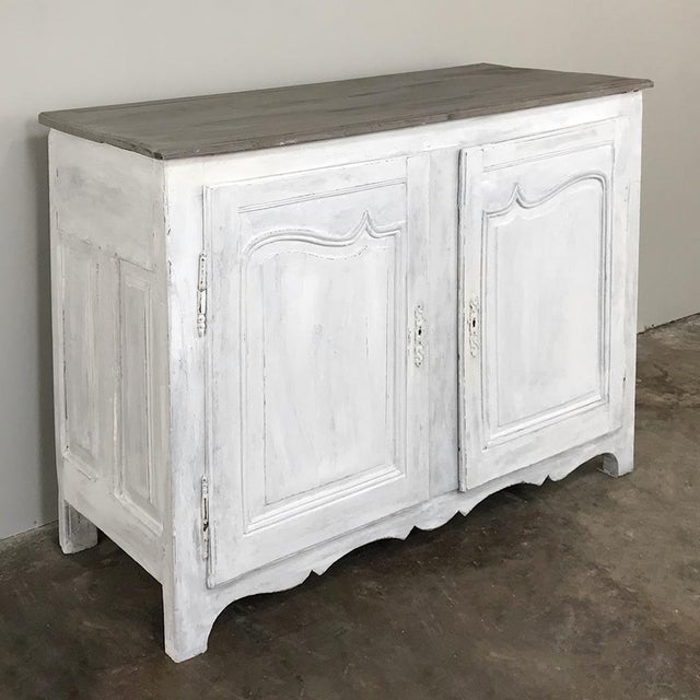 18th Century Country French Provincial Painted Buffet For Sale - Image 4 of 13
