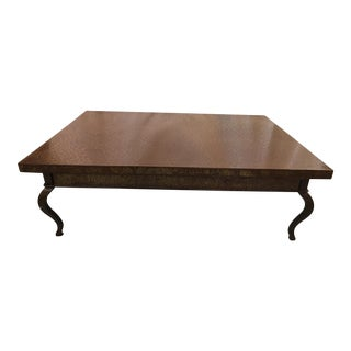 Custom Made Steel Coffee Table For Sale