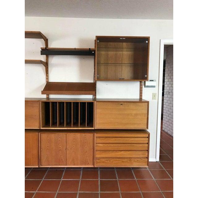 "1960s Danish Poul Cadovius ""System Cado"" Teak Floating Modular Wall Shelf System For Sale - Image 10 of 13"