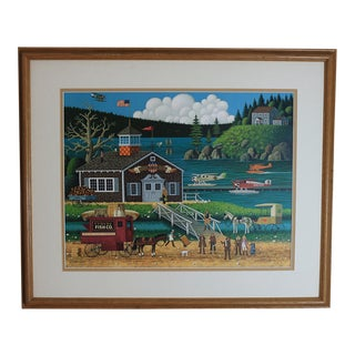1980s Charles Wysocki Birds of a Feather Original Lithograph For Sale