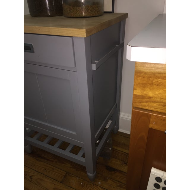 Crate & Barrel Crate & Barrel Kitchen Island With Butcher Block For Sale - Image 4 of 10