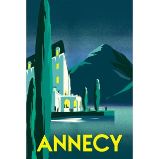 2019 Contemporary Travel Poster - Pascal Blanchet - Annecy For Sale